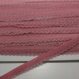 Spitze mit Bogenkannte 12mm alt-rosa