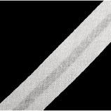 25 Meter Schrägband bw 14mm weiß