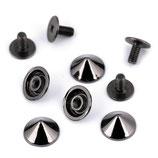 Schraubniete 9,5mm Nickel schwarz