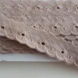 Spitze 25mm sand Baumwolle