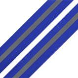 Reflexband auf Gewebe 30 mm blau