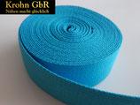 5 Meter Gurtband 30mm Baumwolle kalifornienblau