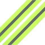 Reflexband auf Gewebe 30 mm gelb