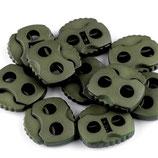 Kordelstopper 20*20mm grün-khaki