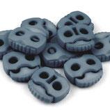 Kordelstopper 20*20mm grau/blau