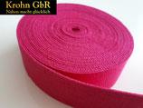 5 Meter Gurtband 30mm Baumwolle mittelrosa-pink