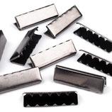 Endstücke 40mm Nickel schwarz