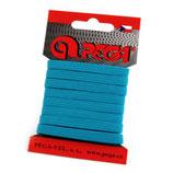 Gummiband 7mm (6,6mm) türkis-blau