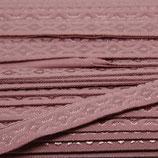 Elastisches Schrägband 12mm alt-rosa JACQUARD