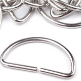 D-Ringe 40 mm Nickel