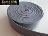 5 Meter Gurtband 30mm Baumwolle grau