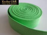 5 Meter Gurtband 30mm Baumwolle frühlingsgrün