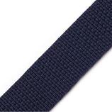 Gurtband 25mm blau-grau PP