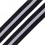 Reflexband auf Gewebe 30 mm schwarz