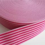Gummiband 40mm rosa-fuchsia
