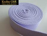 5 Meter Gurtband 30mm Baumwolle hellviolett