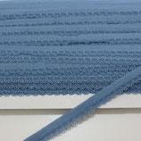 Spitze mit Bogenkannte 12mm alt-blau