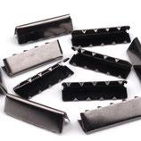 Endstücke 30mm Nickel schwarz