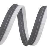 Paspelband grau 10 mm, reflektierend