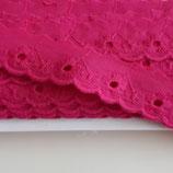 Spitze 25mm pink Baumwolle