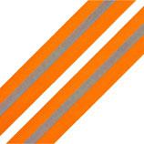 Reflexband auf Gewebe 30 mm orange