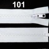 Reißverschluss 50 cm weiß