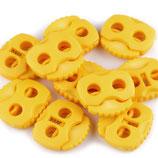 Kordelstopper 20*20mm gelb