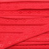 Elastisches Schrägband 12mm rot JACQUARD