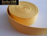 5 Meter Gurtband 30mm Baumwolle gelb