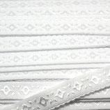 Elastisches Schrägband 12mm weiß JACQUARD