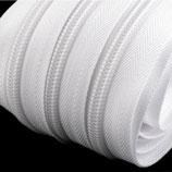 1 Meter Reißverschluss 7mm weiß + 2 Zipper
