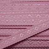 Elastisches Schrägband 12mm rosa JACQUARD