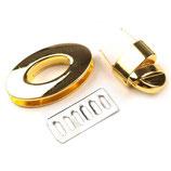 Drehverschluss 23 x 37mm goldfarbig