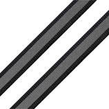 Reflexband auf Gewebe 10mm schwarz