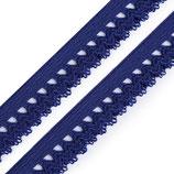 Rüschengummi 15mm blau delta