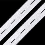 Knopflochgummi 20mm weiß
