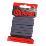 Gummiband 7mm (6,6mm) grau