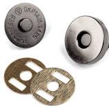 Magnetverschluss 18 mm Nickel schwarz