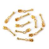 Zipper 3mm Gold mit Kette