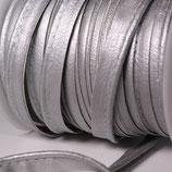 Paspelband 10mm silber Kunstleder