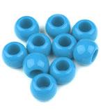 Großlochperlen 11*14mm hellblau