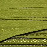 Elastisches Schrägband 12mm oliv JACQUARD