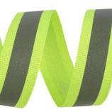 Reflexband auf Gewebe 20 mm neongelb