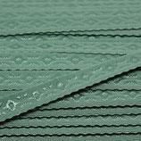 Elastisches Schrägband 12mm alt-grün JACQUARD
