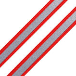 Reflexband auf Gewebe 10mm rot