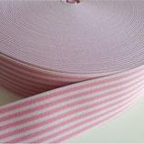 Gummiband 40mm hellrosa-rosa