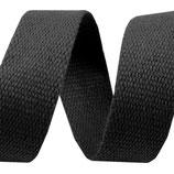 Gurtband 30mm Baumwolle schwarz 2.0