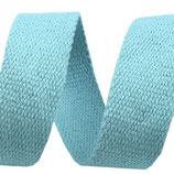Gurtband 30mm Baumwolle hellblau