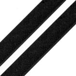 Paspelband 12mm schwarz Baumwolle
