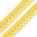 Rüschengummi 15mm gelb